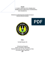 Pengenalan Program Matlab Menggunakan Operasi Operasi Matriks