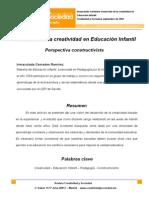 Creatividad y Sociedad. Desarrollo de La Creatividad en Educacion Infantil