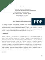 Edital Doutorado 2013 Economia Politica Internacional UFRJ