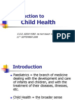 Introduction to Child Health- Med Stud 2009