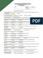 Examen de Quimica II Enfermeria