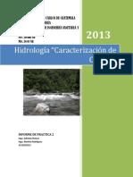 Reporte Hidrología