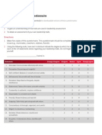 leadership traits questionnaire
