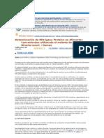Determinación de Nitrógeno Proteico en Alimentos