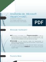 Anatomía de  Microsoft Visual C++.NET