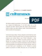 Entrevista a J. Garés Crespo