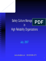 Safety Culture in HROs