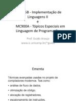 01-introducao-IRimplementaçao de linguagens