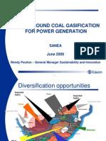 Wendy Poulton (Eskom) - Underground Coal Gasification for Power Generation