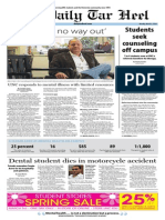 The Daily Tar Heel for March 3, 2014