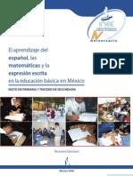 el aprendizaje del español, las matemáticas y la expresión escrita