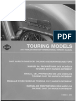 Copy of Harley Davidson Touring Models 2007 International Owners Manual