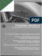 Copy of Harley Davidson Touring Models 2007 International Owners Manual