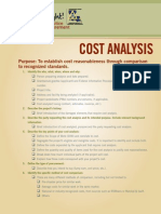 Cost Analysis Checklist