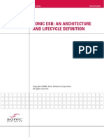 SONIC ESB. an Architecture and Lifecycle Definition