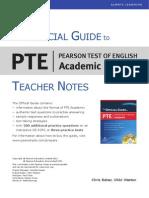 Official Guide PTEA Teacher Notes