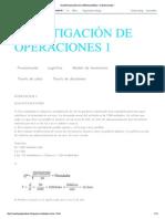 INVESTIGACIÓN DE OPERACIONES 1_ EJERCICIOS 1 inventario