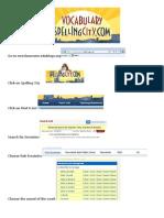 Spelling City Instruction