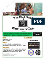 Blackboard Of West Contra Costa Flyer for March 22