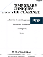 Dolak, Fritz - Contemporary Techniques for the Clarinet