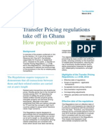 Transfer Pricing Regulations Take Off in Ghana