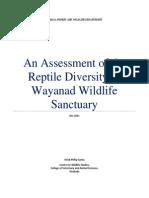Assessment of Te Reptiles of Wayanad WLS Final
