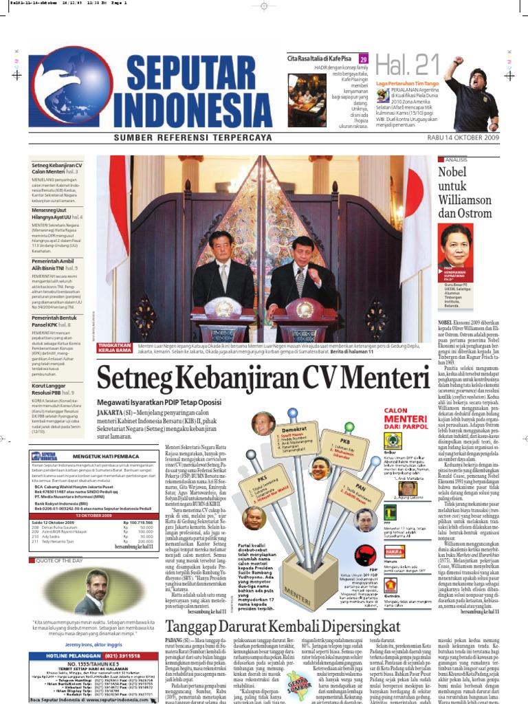 EPaper Harian Seputar Indonesia 14 Oktober 2009 eb0378678cec1
