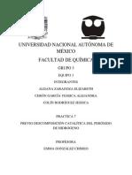 DESCOMPOSICIÓN CATALÍTICA DEL PERÓXIDO DE HIDRÓGENO FINAL