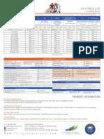 Inlingua Prices 2014