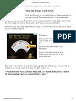 Card Magic Trick - Perfect Ten Prediction