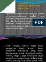 Al-Qura'n, As-Sunnah Dan Pokok-Pokok Ajaran Islam