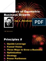 Principles of Geometric Business Growth