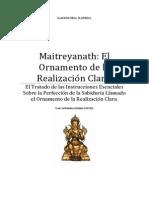 Maitreyanath El Ornamento de la Realización Clara