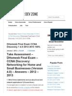 Final Exam CCNA Discovery 1 4