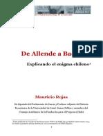 m Rojas de Allende a Bachelet Serie Ensayos