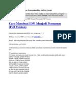 Cara Membuat IDM Mtenjadi Permanen (Full Version)