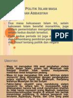Pemikiran Politik Islam Masa Umayyah Dan Abbasiyah