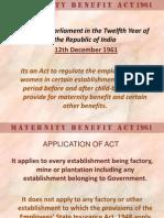 Maternity Benefit Act 1961