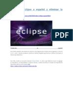 Traducir Eclipse a español y eliminar la traducción