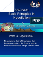Lecture 1 & 2 Basic Principles in Negotiation