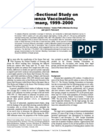Cross-Sectional Study on Influenza Vaccination, Germany, 1999–2000