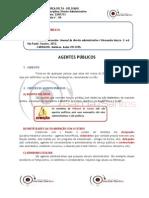 DIREITO ADMINSTRATIVO - AGENTES PÚBLICOS