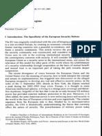 The EU as a Security Regime