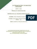 Reporte 1er. Taller de Investigacion Octubre 2009