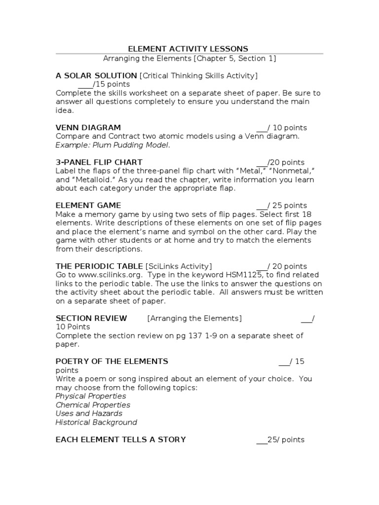 period 3 elements essay example