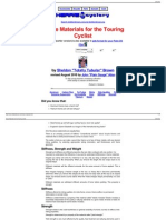 Frame Materials for the Touring Cyclist