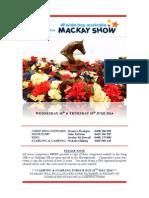 2014 Mackay Show Program