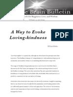 A Way to Evoke Loving-kindness