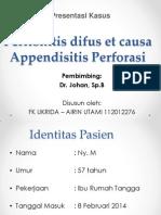 Peritonitis difus ec appendicitis perforasi