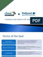 TriQuint RFMD Merger Investor Presentation